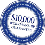 ECANZ $10000 Workmanship Guarantee by Thompson Electrical Ltd