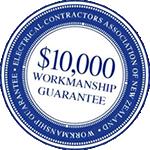 ECANZ $10000 Workmanship Guarantee by Thompson Electrical Ltd