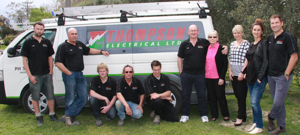 Owners And Staff Of Thompson Electrical Ltd